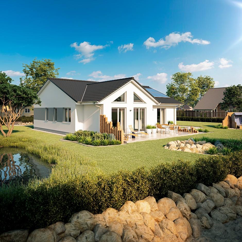 Bau gmbh roth bungalow usedom jetzt auf haus des jahres 2018 for Massivhaus bungalow