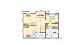Danhaus - Haus Kronshagen - Grundriss Dachgeschoss