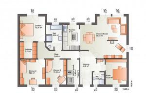 Bärenhaus Haus ONE139 - Grundriss