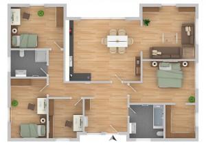 FIBAV Immobilien GmbH - Vision Studio Bungalow - Grundriss