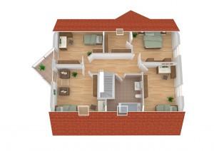 FIBAV Immobilien GmbH - Stadthaus Lübeck - Grundriss Dachgeschoss