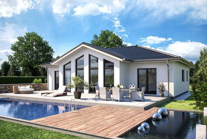 Bärenhaus Haus One 134 - Terrasse mit Pool