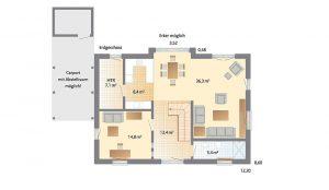 Danhaus - Haus Kronshagen - Grundriss Erdgeschoss