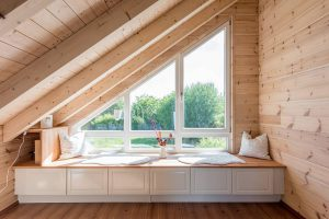 Fullwood - Haus Rheinglück - Fensterbank im Obergeschoss