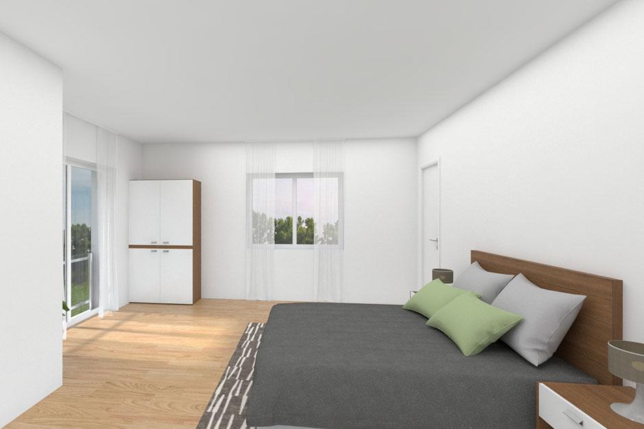 Fibav Stadtvilla Wörlitz Schlafzimmer