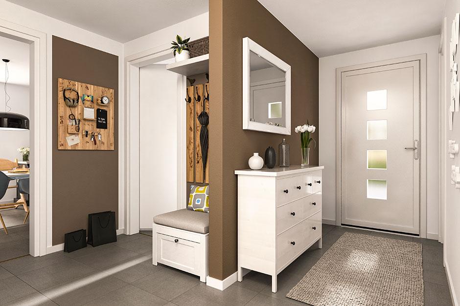 Town & Country Haus, Lukas Massivhaus GmbH, Bungalow 110 mit Winkelanbau, Flur